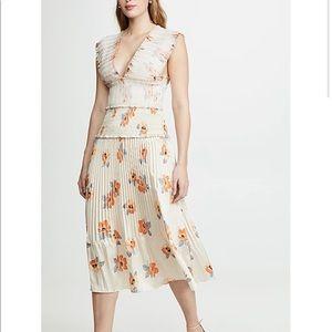 NICHOLAS the Label- Cross Front Smocked Dress